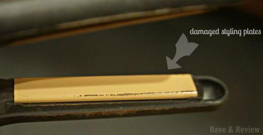 Damaged styling plates