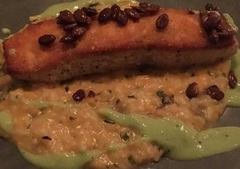 Salmon with Pumpkin Risotto