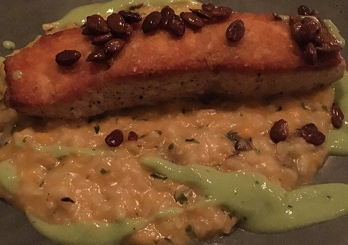Salmon with Pumpkin Risotto
